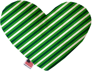 St. Patrick's Stripes 8 inch Heart Dog Toy